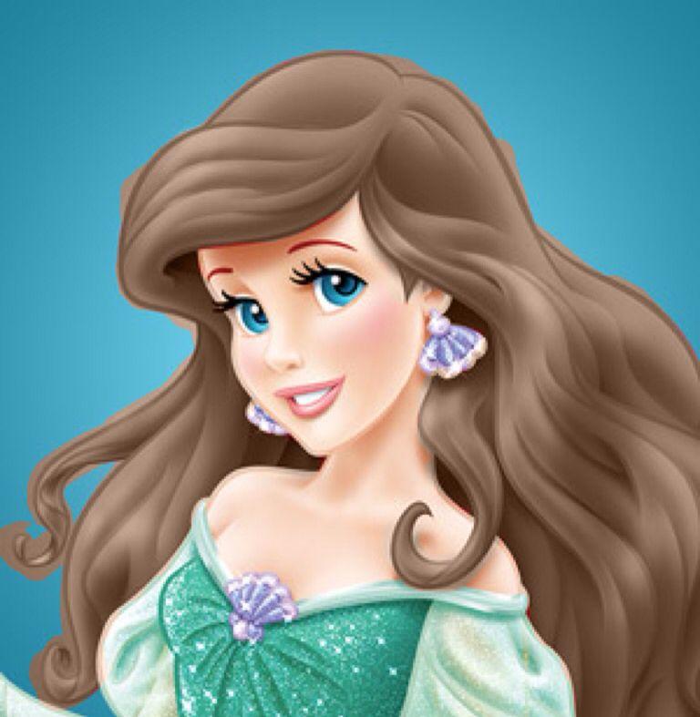 Ariel With Brown Hair Disney Princess Ariel The Little Mermaid Disney Art