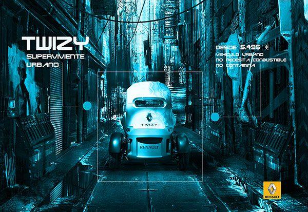¿Qué os parece esta campaña para el Twizy de Renault? Un trabajo de nuestro ex alumno Manuel Pablo López para el Máster de Creatividad Publicitaria.