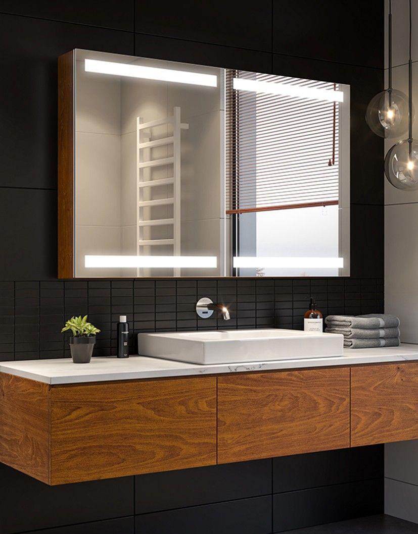 Pin By Marge Luide On Lazienka Bathroom Interior Design Mirror Cabinets Bathroom Interior [ 1058 x 827 Pixel ]
