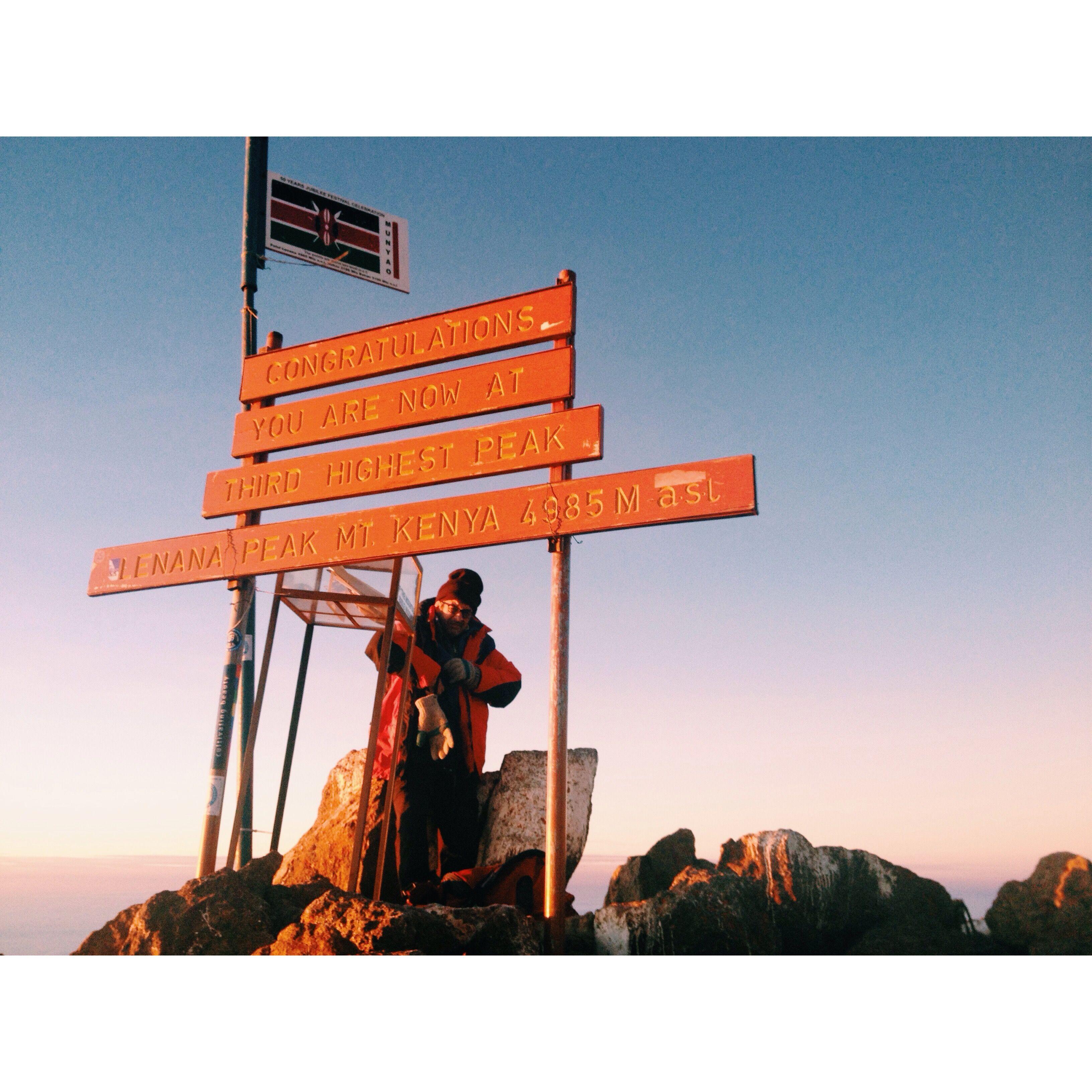 Point Lenana 3rd summit 4985m Mount kenya, Highway