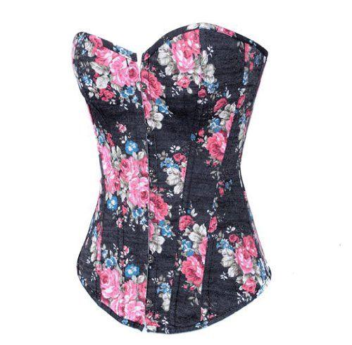 Loi.color Sexy Black Jeans Flower Print Bodyshaper Lace up Corset Bustier S Loi.color http://www.amazon.com/dp/B00ENG4T04/ref=cm_sw_r_pi_dp_Smpkwb1JYFE40