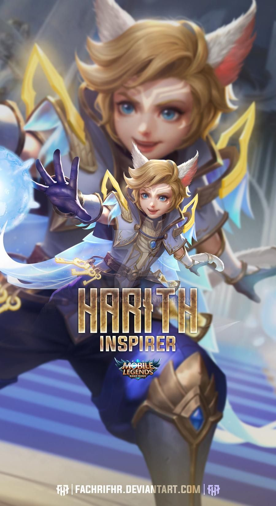 Harith Lightborn Inspirer By Fachrifhr On Deviantart In 2020 Mobile Legend Wallpaper Miya Mobile Legends Alucard Mobile Legends