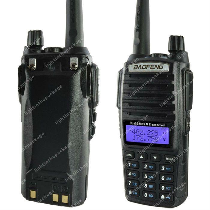 Caliente Portable Baofeng UV-82 radio de Dos vías Transceptor de Radio Walkie Talkie Jamón radioaficionados CB + Protección Radiológica Auricular UV82