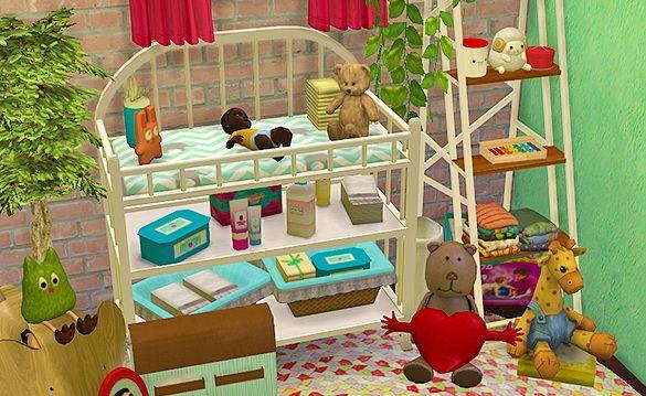 Sanitation station baby changing table at dri4na o sims 4 for Sims freeplay baby bathroom