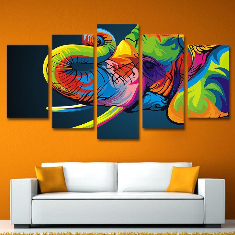 Elephant Canvas Art, Elephant Large Canvas Art, Elephant Wall Art, Elephnat Canvas Print, Elephant Wall Decor, Elephant Painting One image can have lots of powe