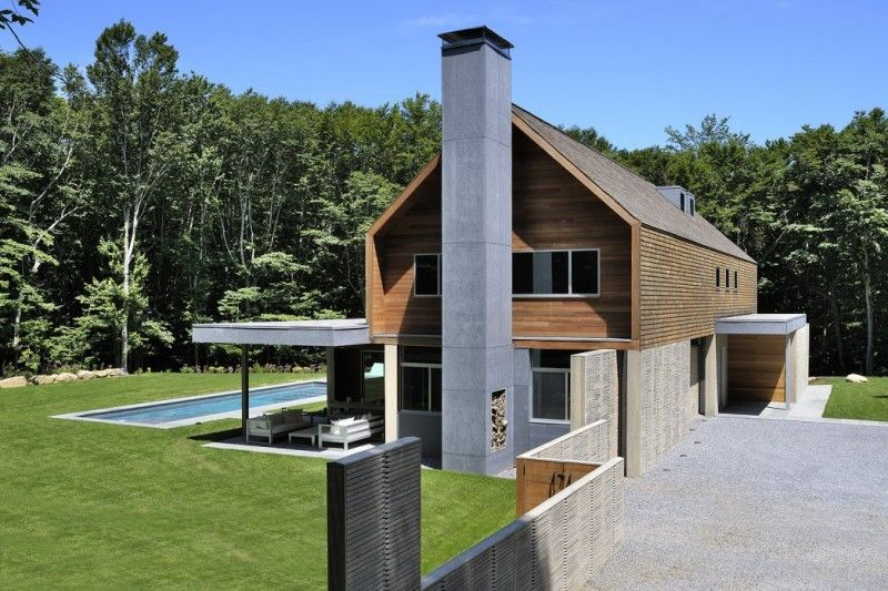 House Chimney Design two level contemporary house design with wooden ornament: wooden