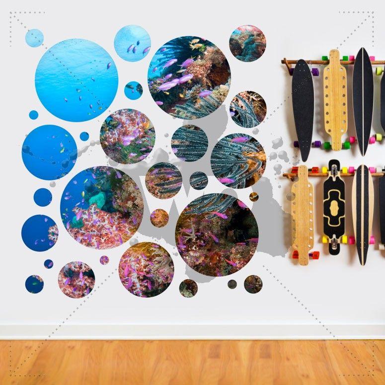 Scuba Diving Portholes | Fabric #Wall #Decals