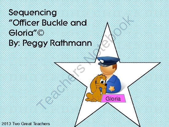 officer buckle and gloria writing activities