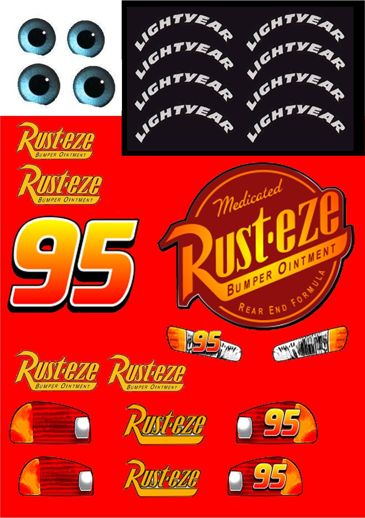 picture regarding Lightning Mcqueen Printable Decals named Decals in the direction of crank out a 3D Lightning McQueen Car or truck against Automobiles Online video