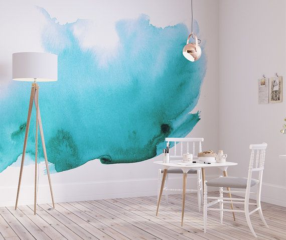 Watercolor Wall Mural Watercolor Wallpaper Adhesive Wallpaper