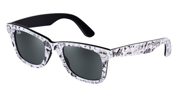 36350a890a Ray Ban Wayfarer rare comic print worn by CL of 2NE1 | ME 2.0 – All ...