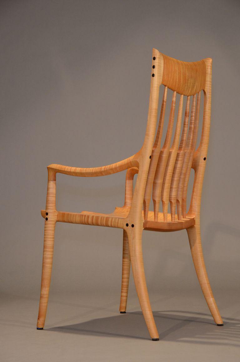 Armchair By Sam Maloof Sam Maloof Wood Furniture Handmade Chair