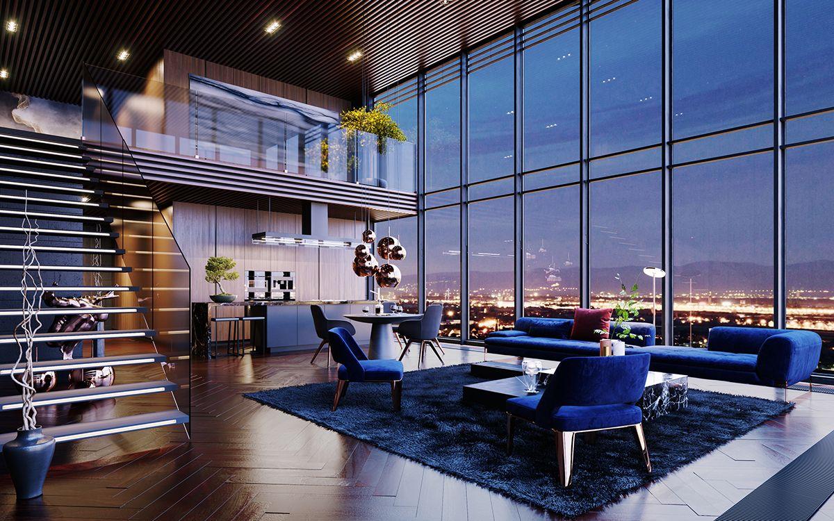 Fantastisch Luxury Penthouse In Los Angeles, USA | CGI | On Behance
