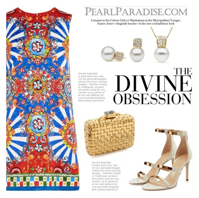 """""""Obsession"""" by pearlparadise ❤ liked on Polyvore featuring Dolce&Gabbana, Tamara Mellon, Tejido and Vera Wang"""