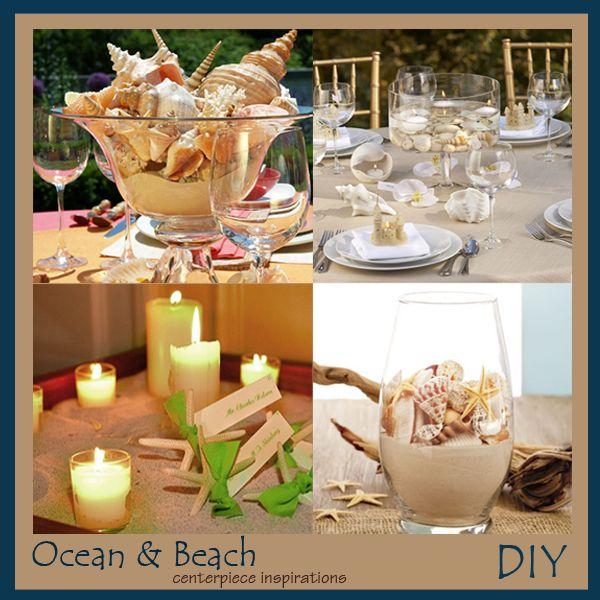DIY Beach and Shells Wedding Centerpieces Beach Wedding Ideas