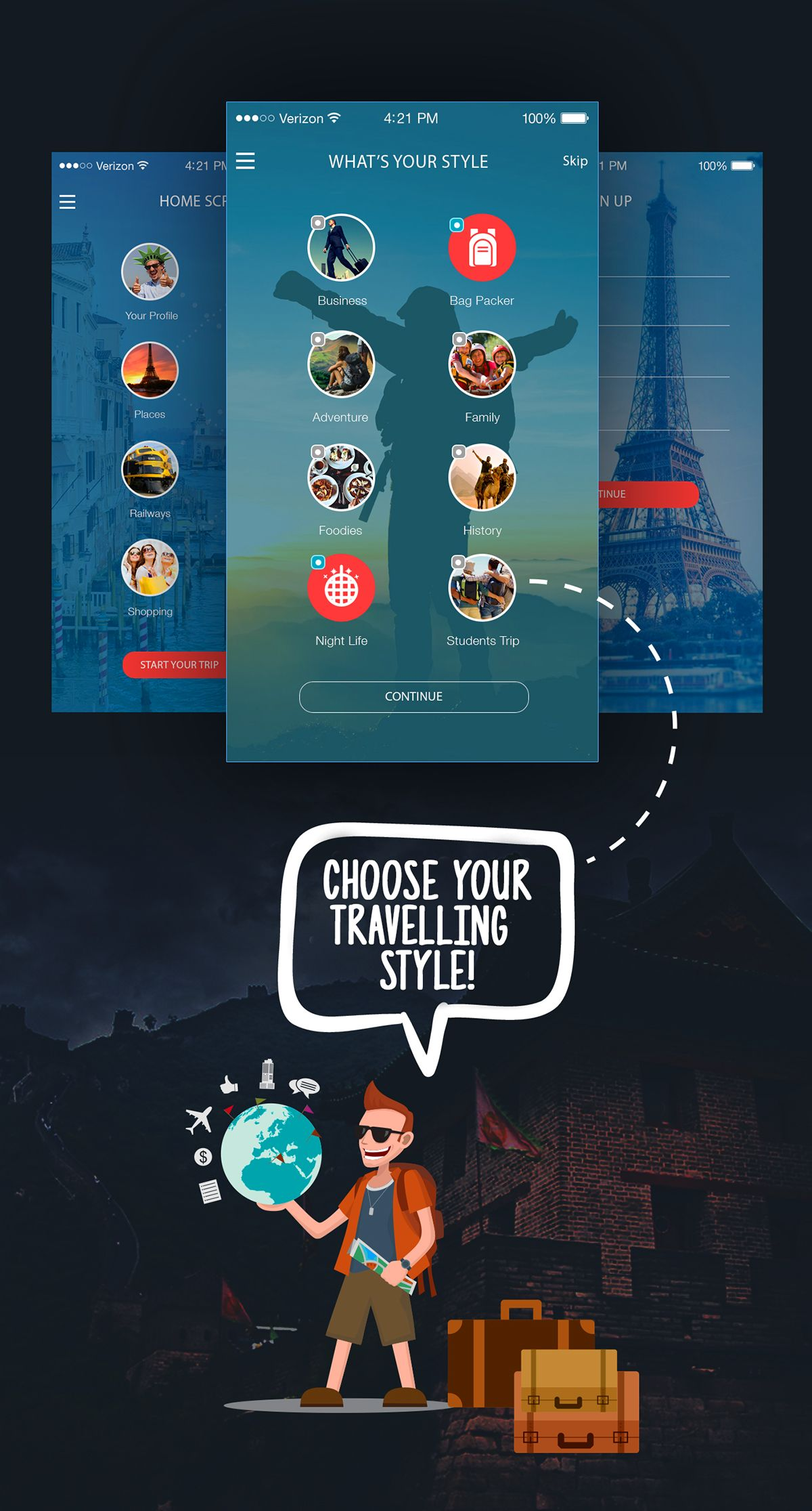 Travel Places (Mobile App Design) on App Design Served