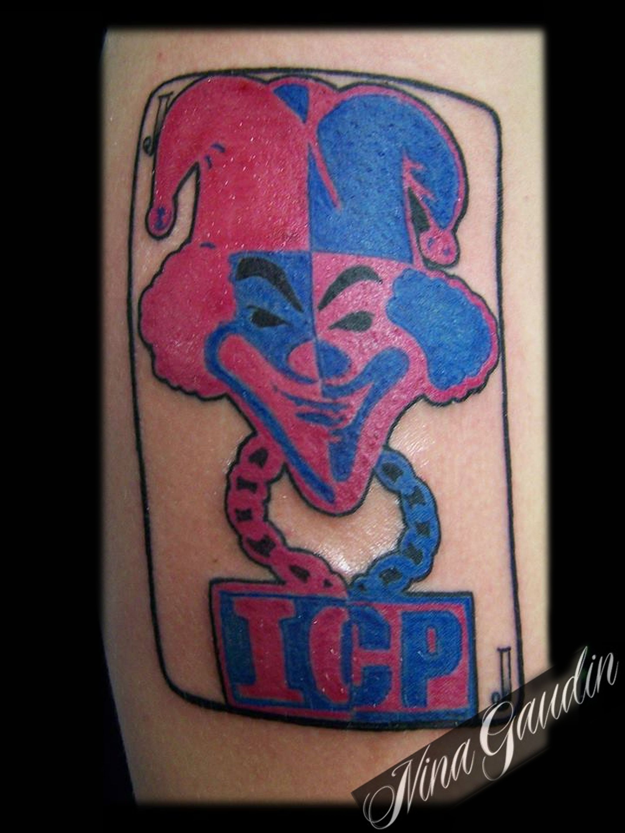 ICP Carnival of Carnage color arm - Tattoo by Nina Gaudin of 12th ...
