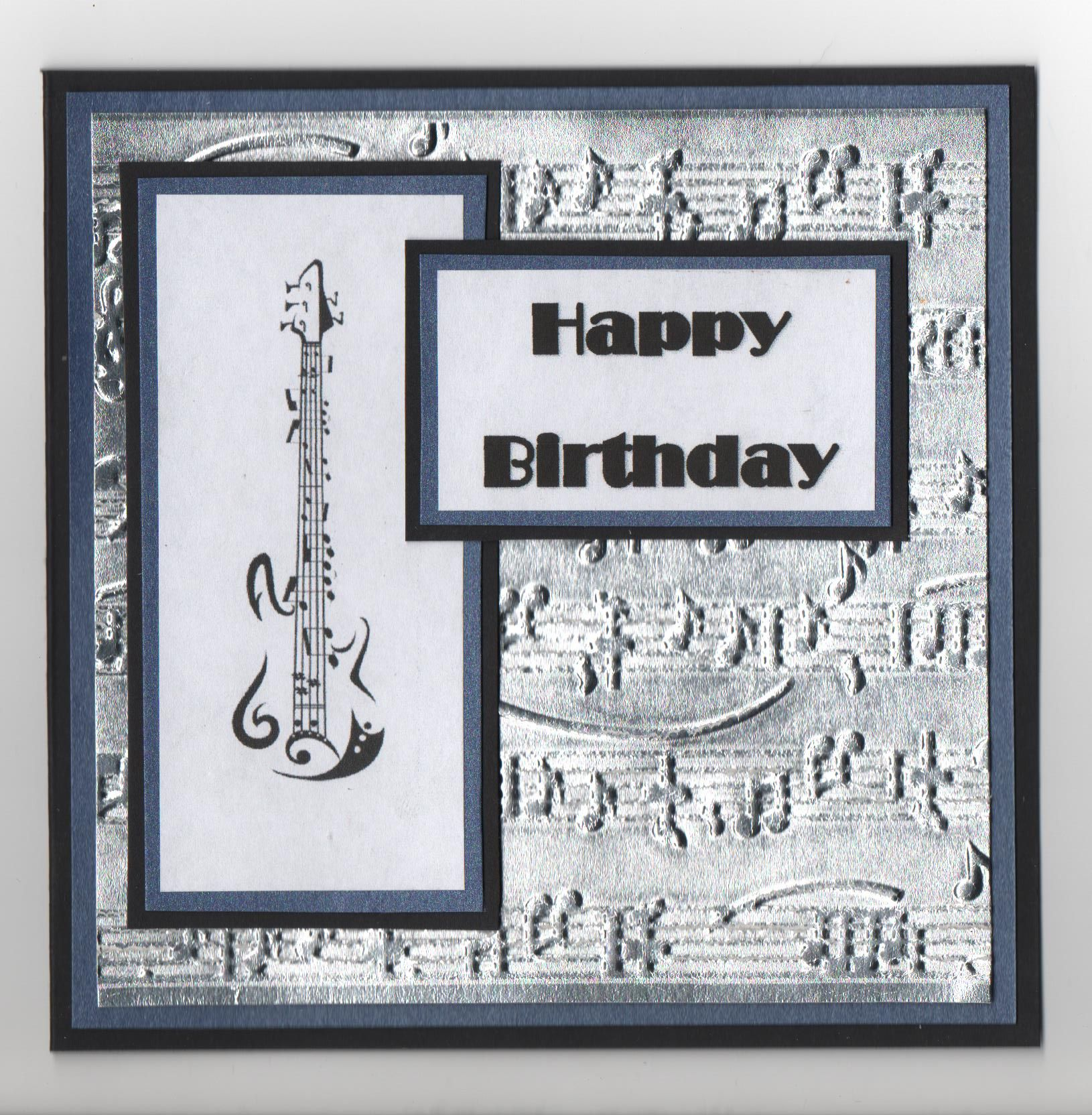 Pin By Carol Feige On Cards Sophisticated Black White Musical Cards Embossed Cards Inspirational Cards