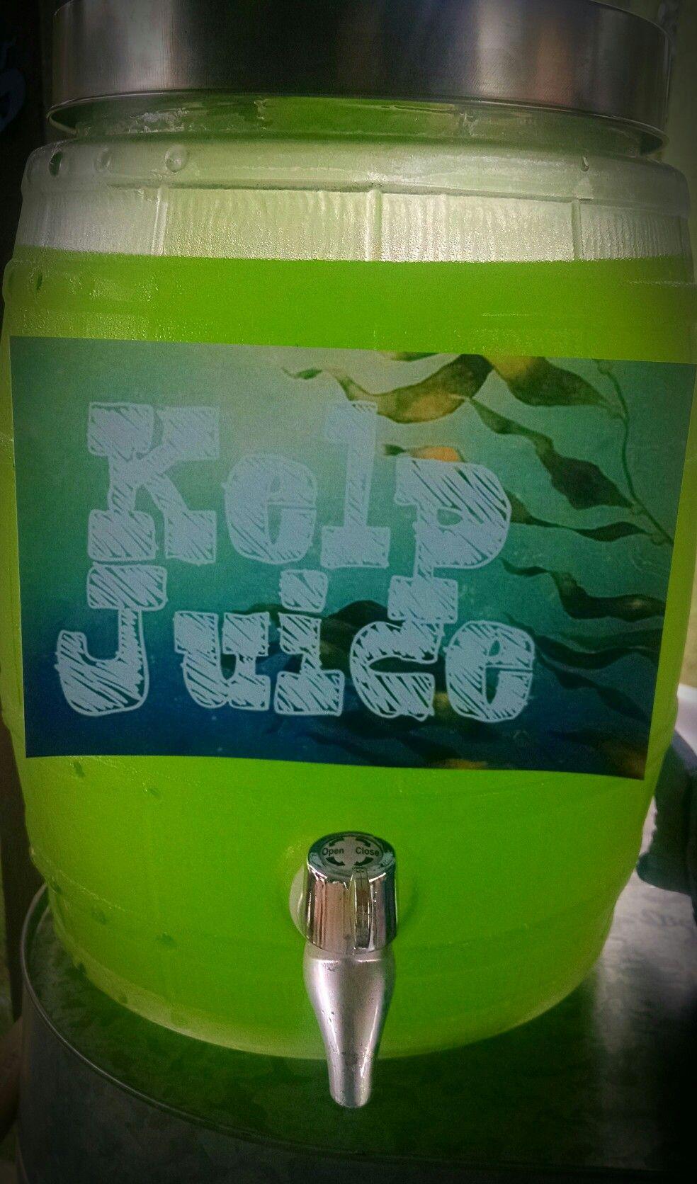 Kelp Juice : juice, Mermaid, Party., Turquoise, Purple., Birthday, Theme., Drinks,