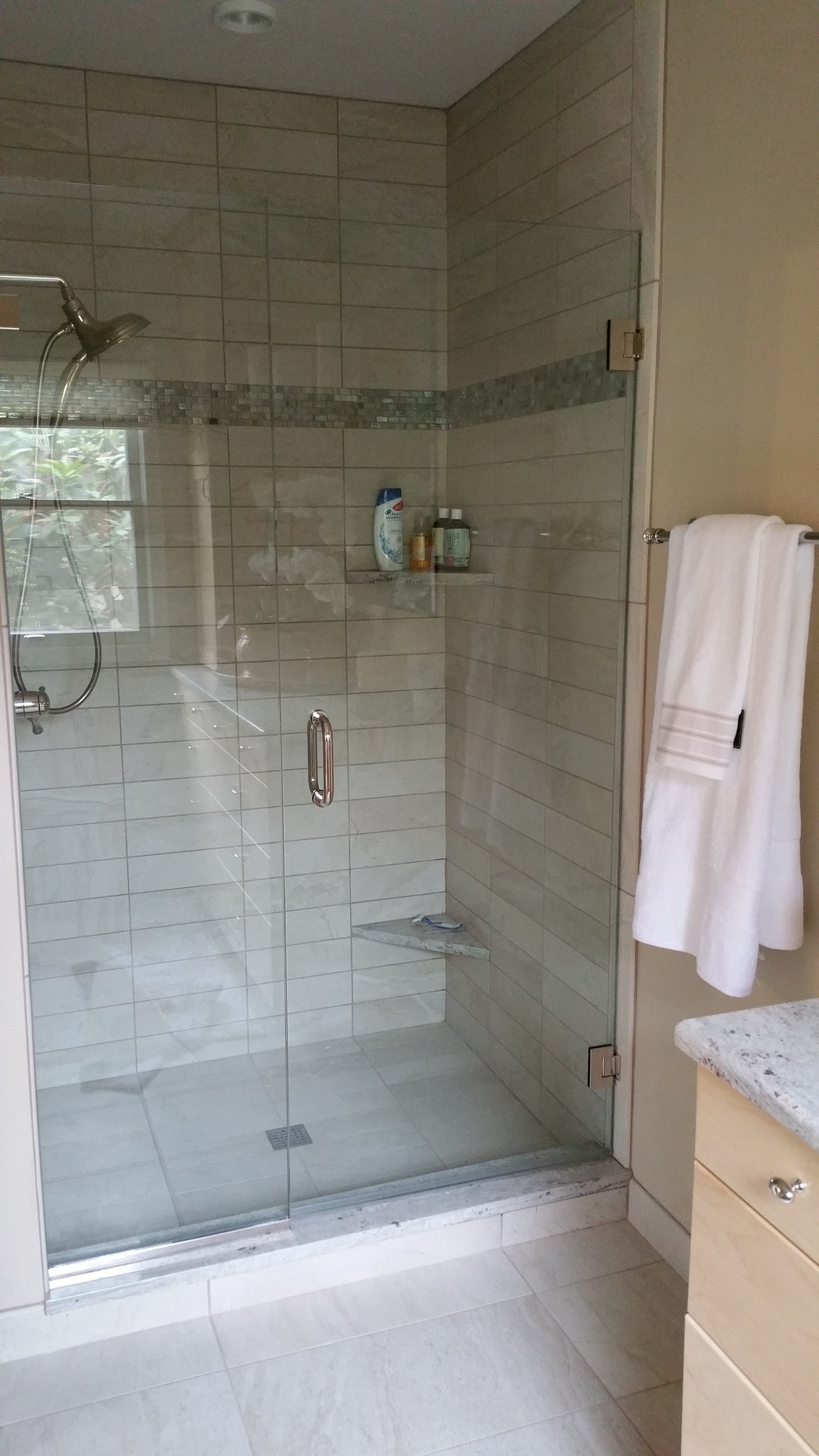 This Is A Good Example Of Using Counter Top Material In The Shower
