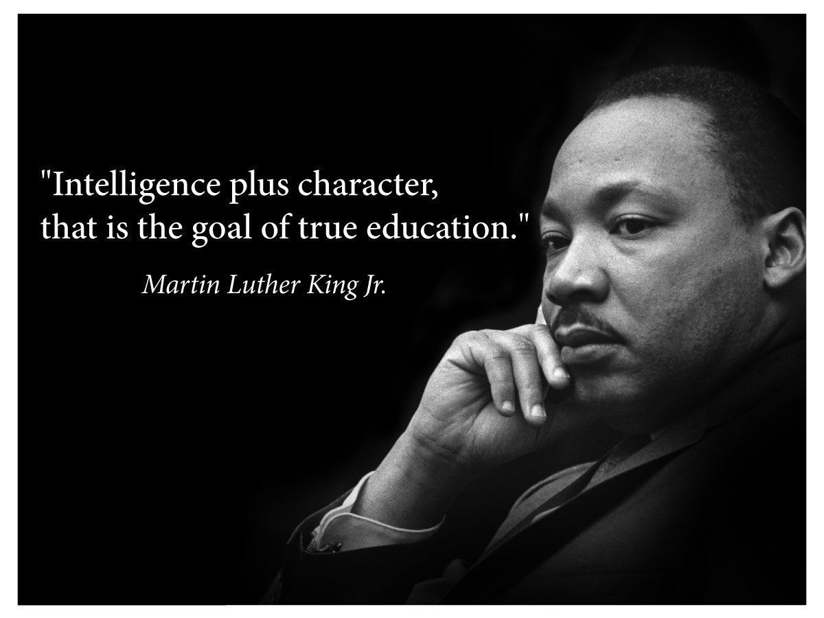 Martin Luther King Jr. Poster famous inspirational quote banner for classrooms education wall art photograph picture black history month famous African american hero activism teacher