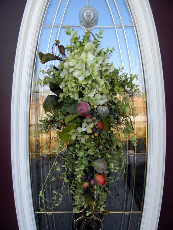 Teardrop Vertical Spring Door Swag Wreath Decor