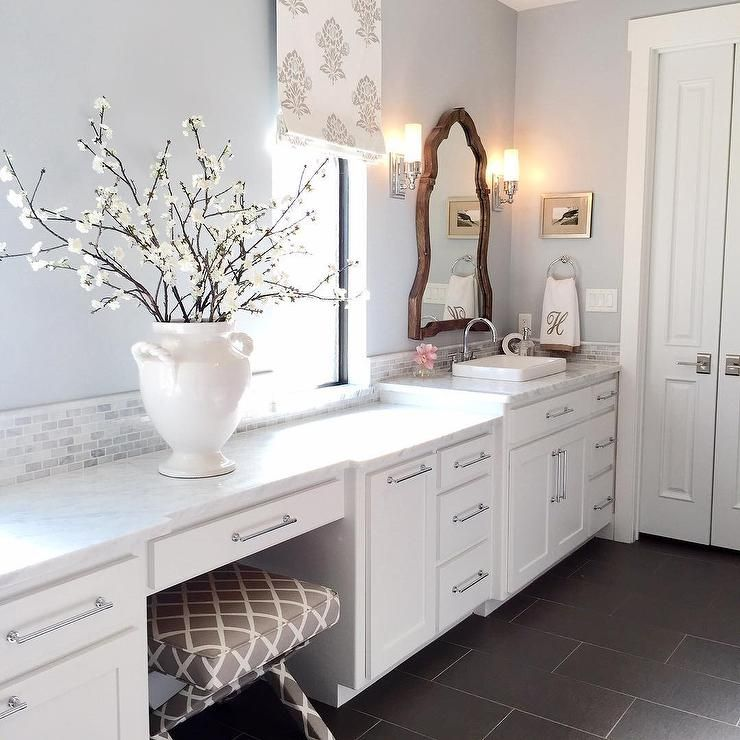 Bathroom Color Ideas Pretty Gray Paint Selections: Silver Gray Paint Color - Benjamin Moore Silver Lake