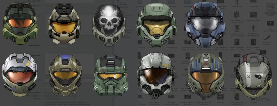 Helmets Of Halo Reach Concept By Giovannimicarelli On Deviantart Halo Cosplay Halo Armor Halo Reach
