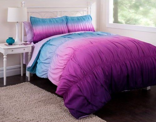 Pin On Zhome, Purple And Teal Ombre Bedding