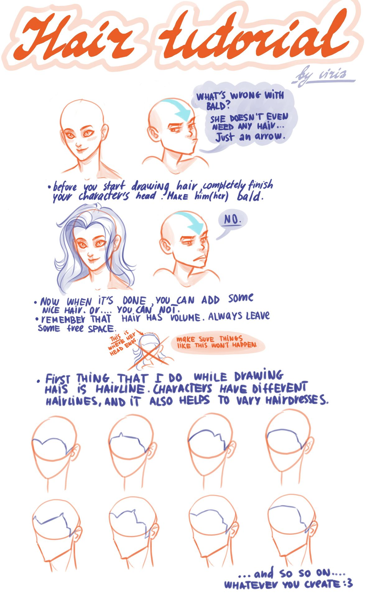 how to draw hair tutorial deviantart
