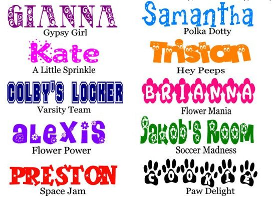 Personalized Wall Decals Small Size Wall Sticker  by GirlCandyShop, $14.00
