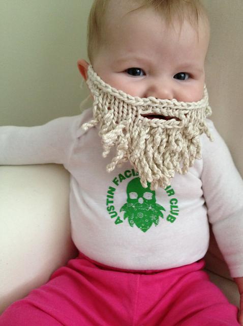 Baby Beard pattern by Megan Graddy | Knitted beard ...