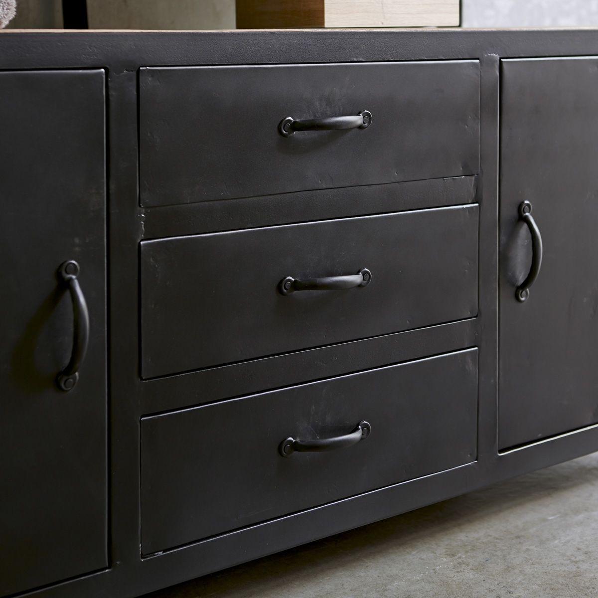 Photo of Metal and Mango Wood Vanity Cabinet 140