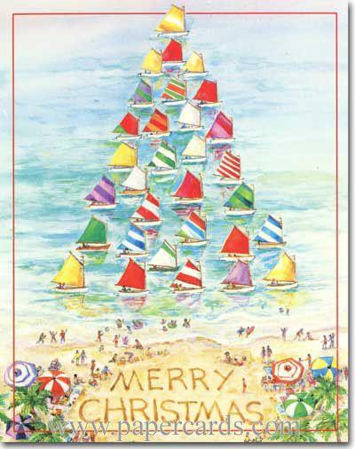 Sailboat Tree (1 card/1 envelope) Red Farm Studios Nautical ...