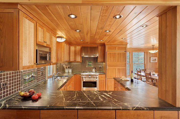 cozy cabin retreat kombiniert die wärme von holz mit einem hellen offenen innenraum small on g kitchen layout design id=66530