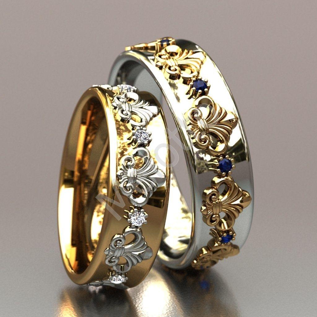 Необычные обручальные кольца (53 фото)  красивые свадебные парные модели  самого оригинального дизайна из серебра и золота 7953ca4f54a