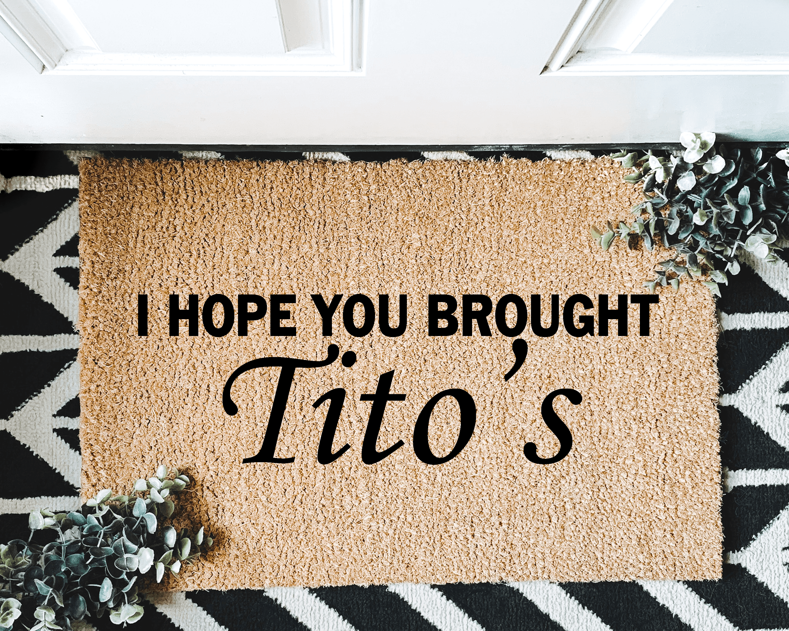 I Hope You Brought Tito S Cute Housewarming Gift In 2020 House Warming Gifts Personalized Door Mats Door Mat