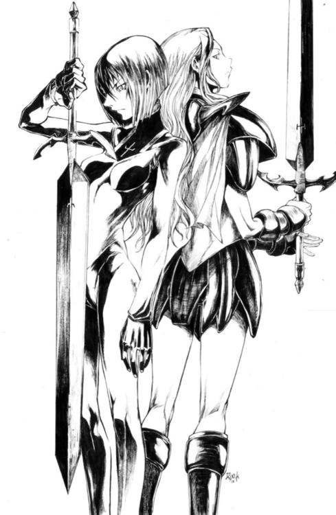 Claymore Teresa & Clare Personagens de anime, Anime