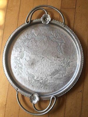 Lot of 5 Vintage Aluminum Pieces, Ashtray, Coin Dish/Trinket Tray ...