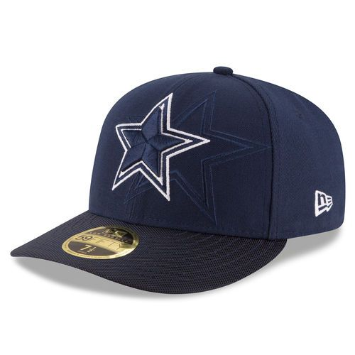 c648e1d47 Men s Dallas Cowboys New Era Navy Sideline Official Low Profile 59FIFTY  Fitted Hat