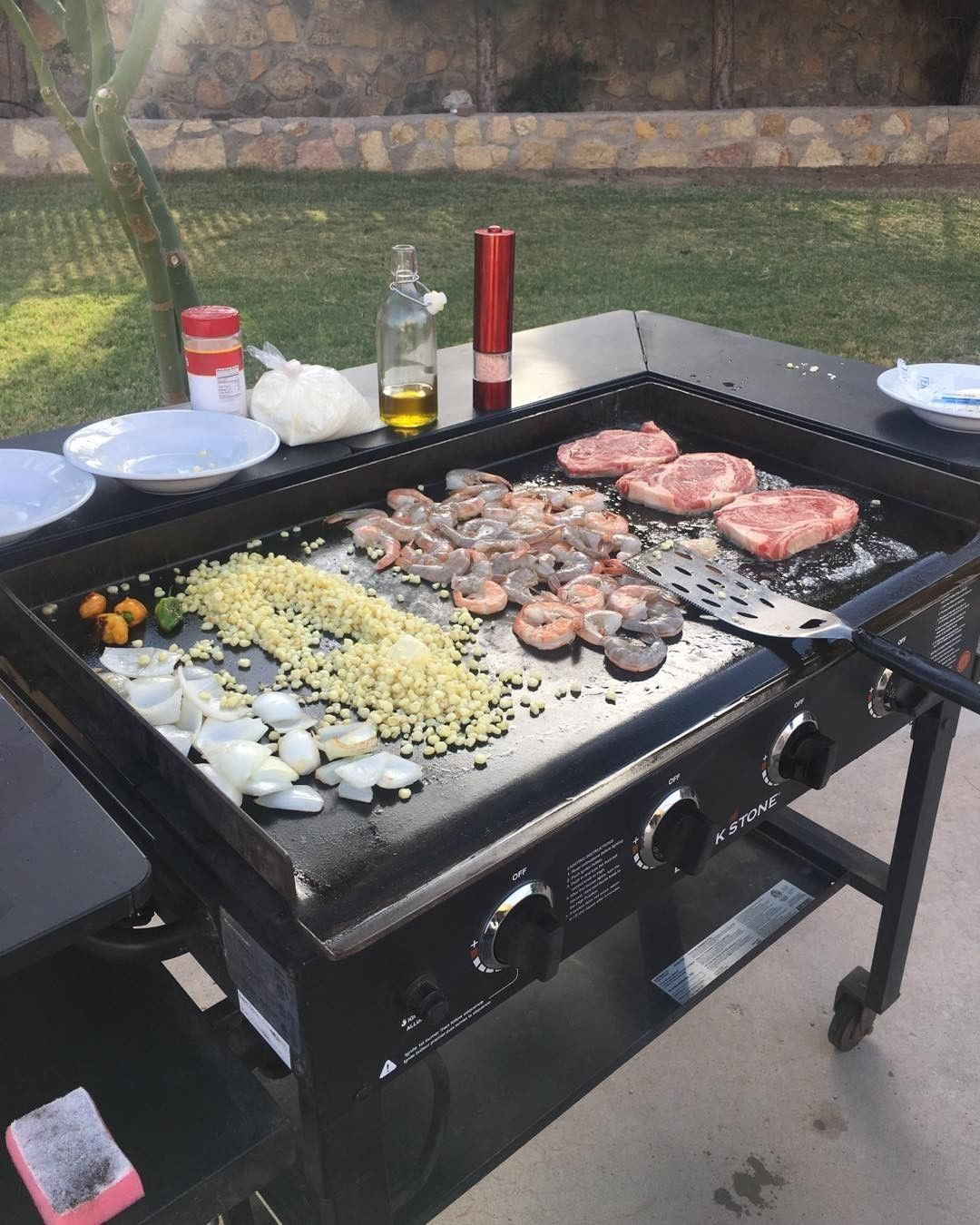 Pin By John Marchell On Myhcniez Outdoor Griddle Recipes Griddle Recipes Simple Outdoor Kitchen