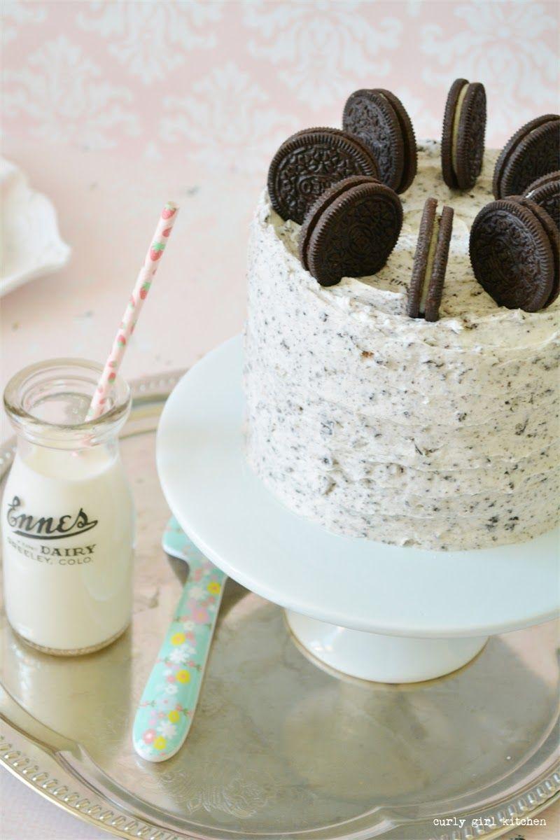 Cookies And Cream Cake Birthday White Velvet Oreo Milk