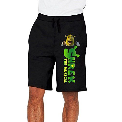 Runy Mens Shrek The Musical Slim Sports Jogging Shorts With Pocket Black    niftywarehouse.com 28fe5944a78c7