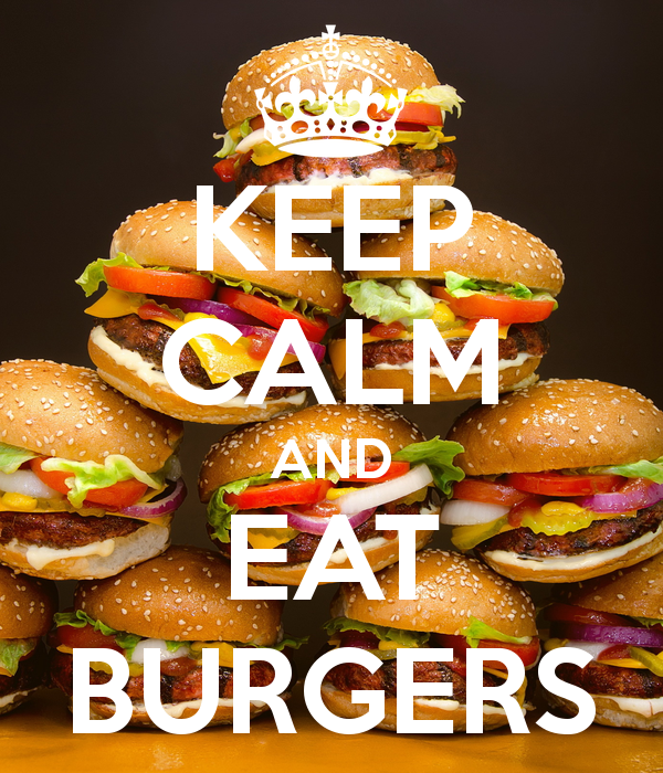 how to eat a big burger
