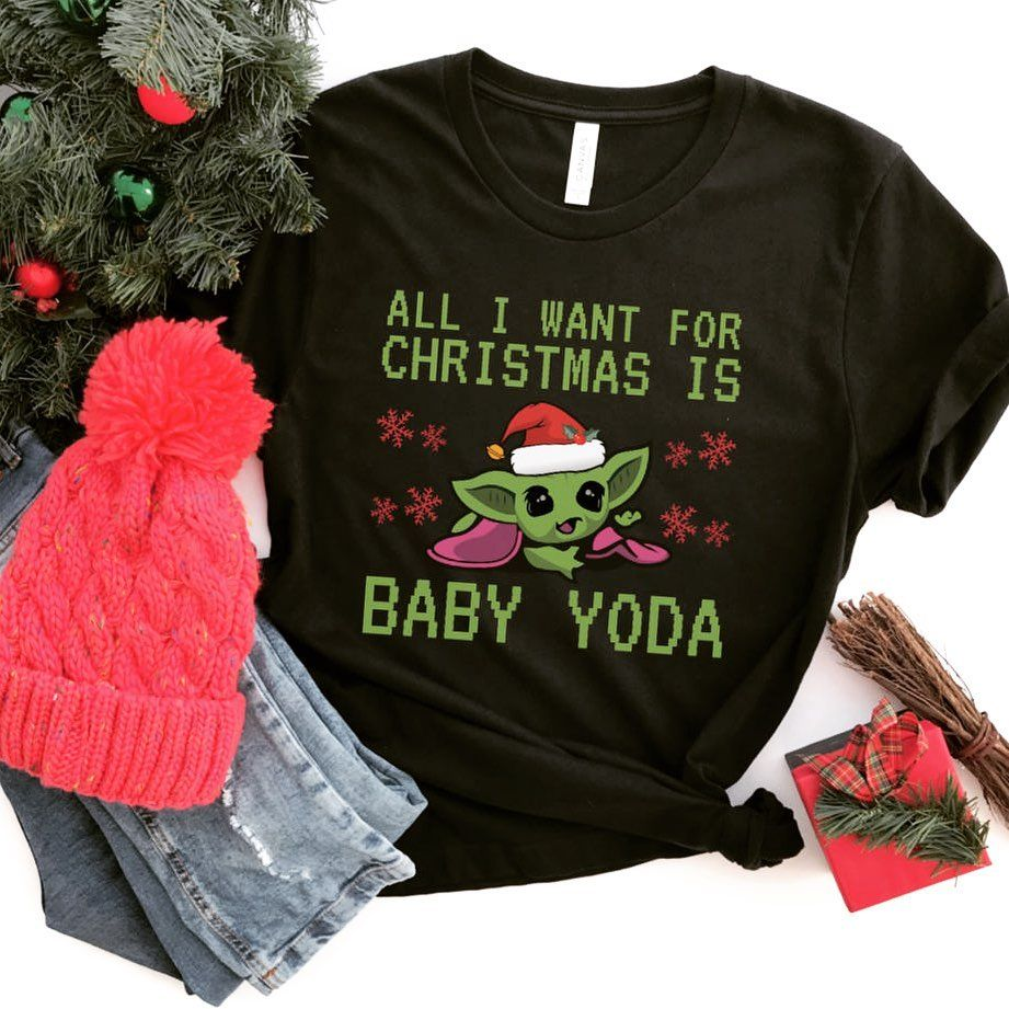 Friday Apparel On Instagram Raise Your Hand If Wish You Could Double Tap A Baby Yoda Into Your Stocking Tag S Yoda Shirt Shirt Gift Heather Black