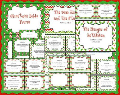 Christmas Bible Trivia.Christmas Bible Trivia Free Printable Question Cards With