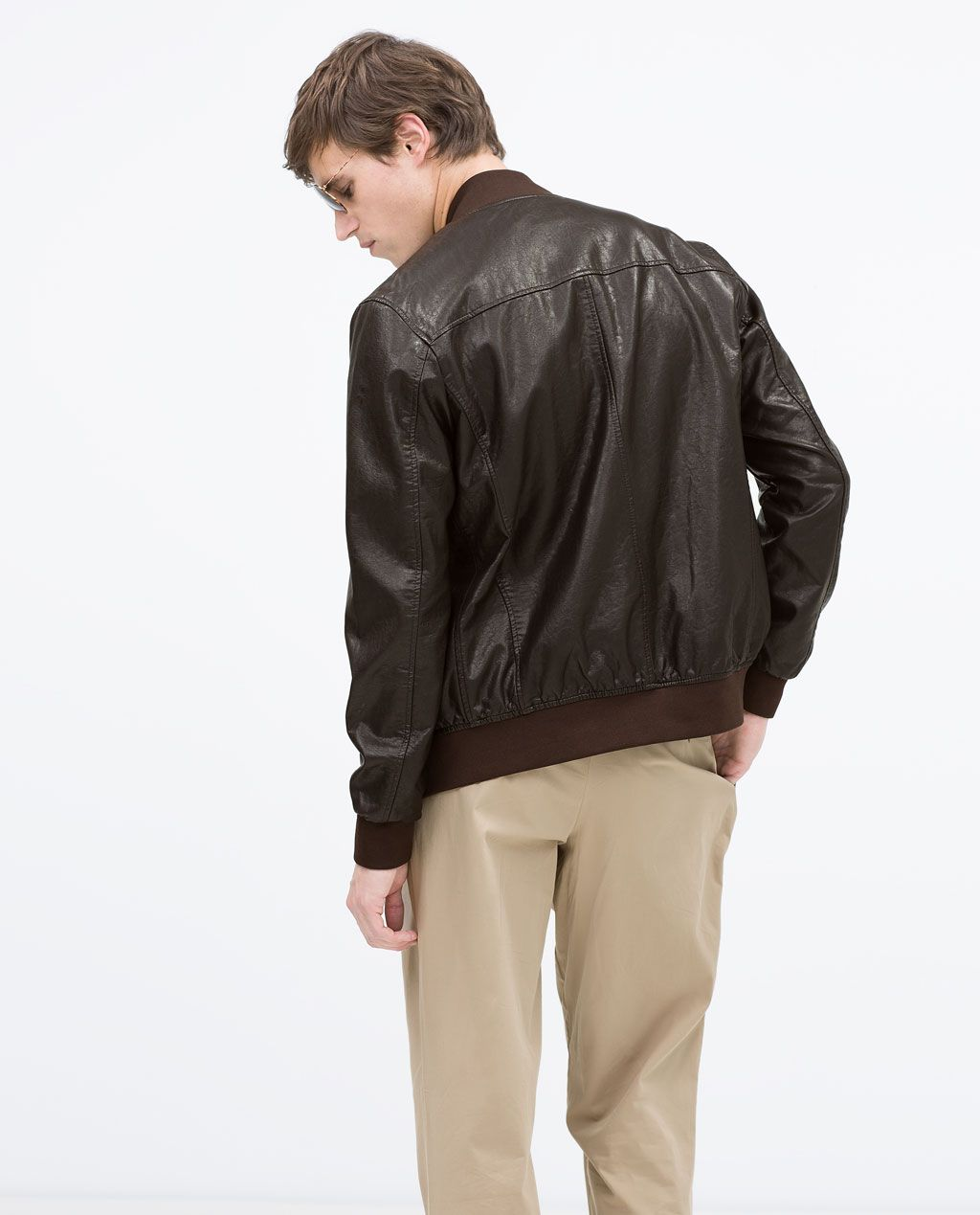 FAUX LEATHER BOMBER JACKET from Zara Zara Hombre 24b843a5cee