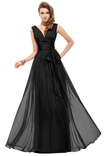 Dora Bridal Women´s V-Neck Chiffon Bridesmaid Long Prom Dresses Size 2 US Black Dora Bridal http://www.amazon.com/dp/B016HIDFFK/ref=cm_sw_r_pi_dp_bbFlwb0V37WEW
