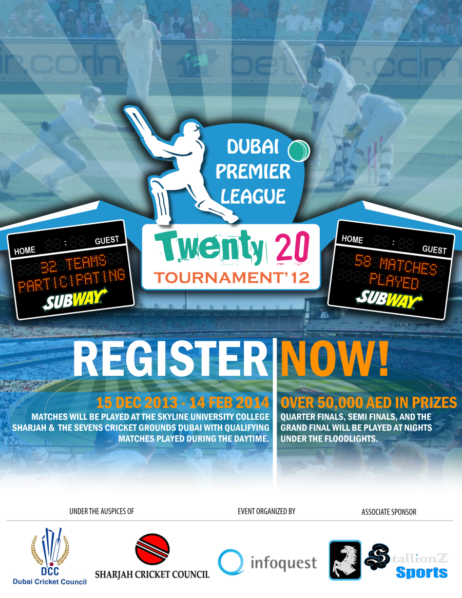 Invitation For Corporate Cricket Tournament: Flyer Design By Ucfgraphicsguy For DPL T20 Cricket