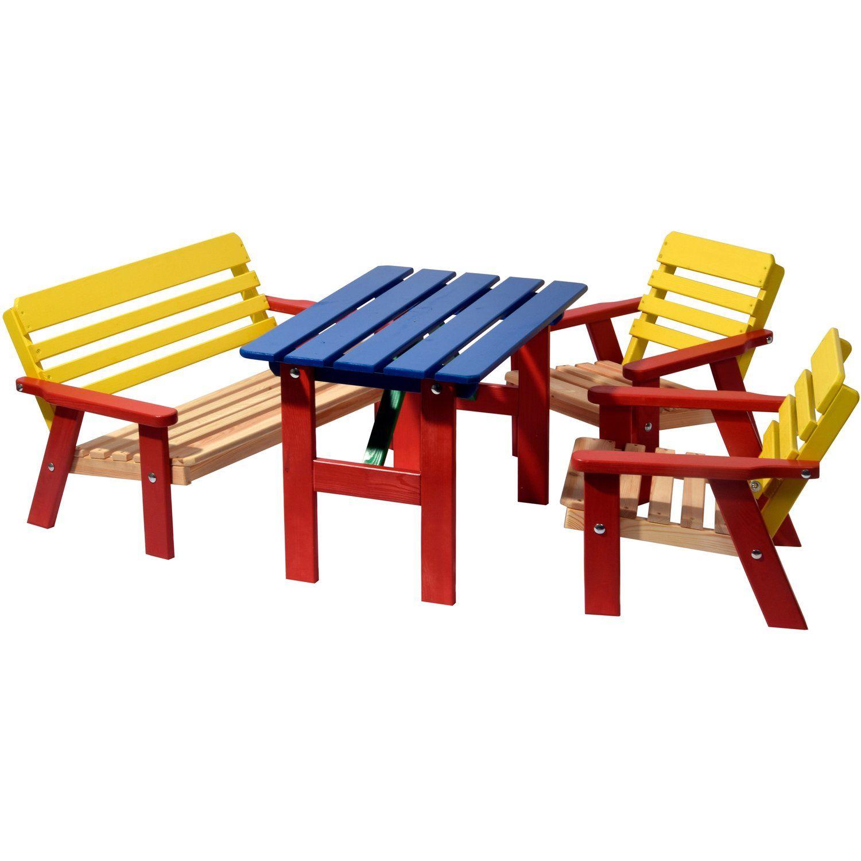Dobar Kindersitzgarnitur 4 Teilig Mit Kindertisch Mehrfarbig Kaufen Bei Obi Aussenmobel Kindertisch Kindertisch Garten